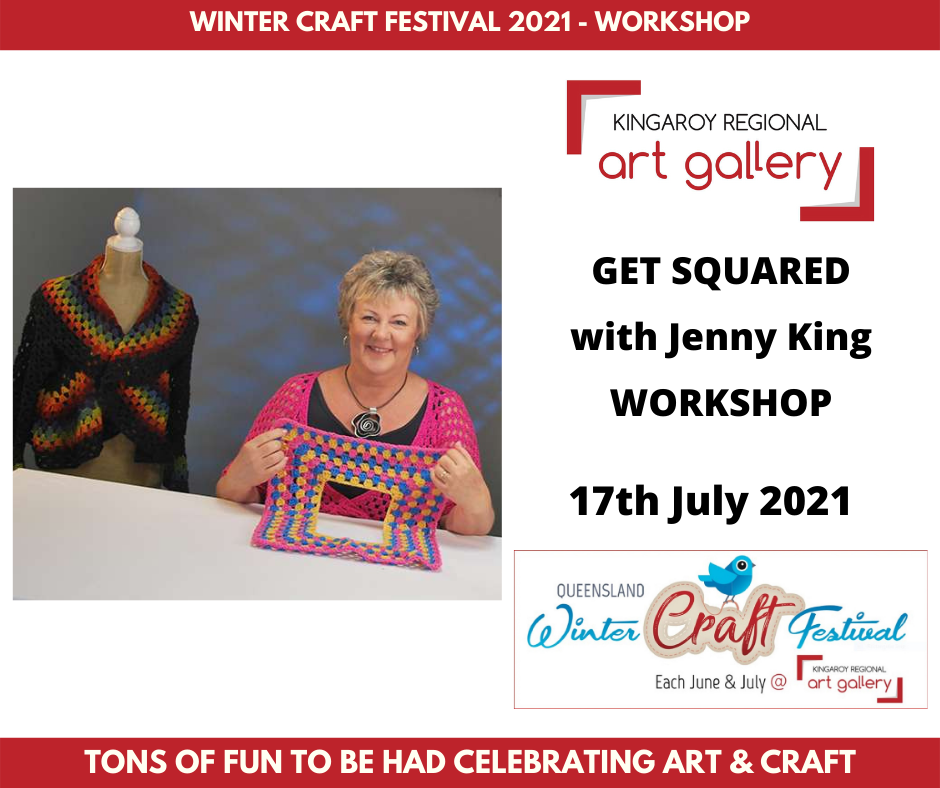 GET SQUARED with Jenny King WORKSHOP 17th July 2021