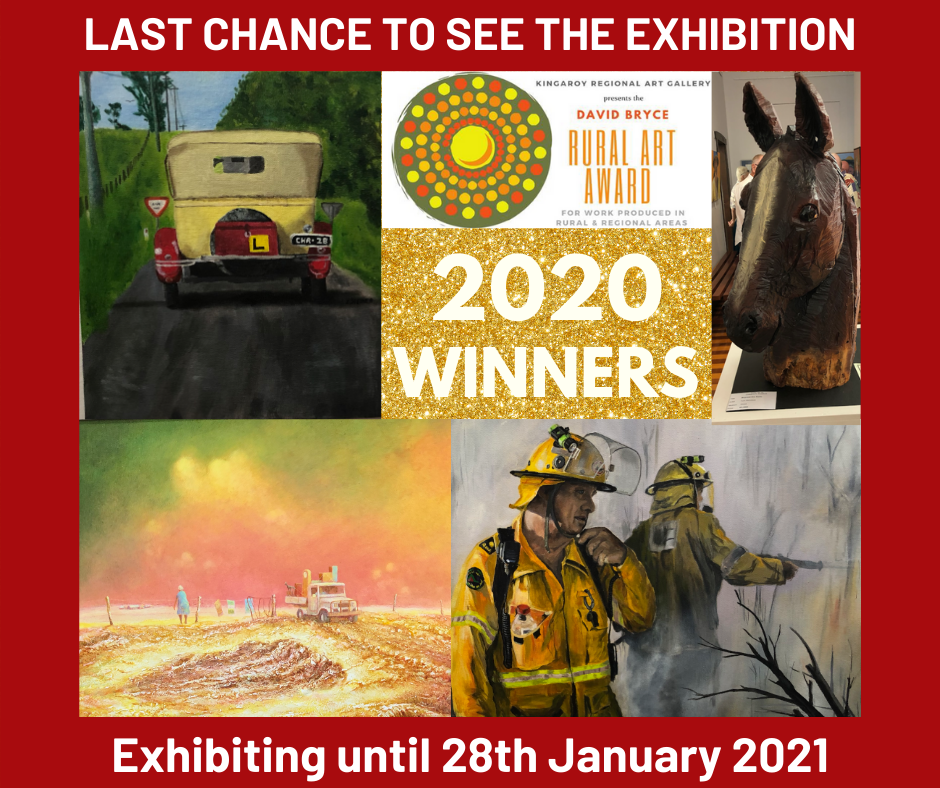 Last chance to see the David Bryce Award 2020 Winners Exhibit 2020 at Kingaroy Regional Art Gallery