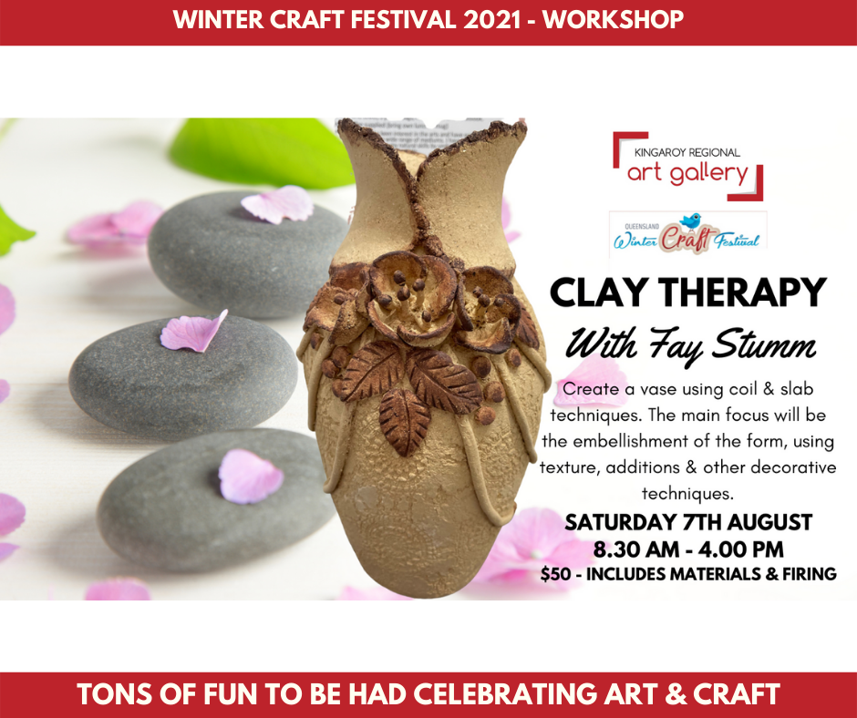 Clay Therapy Workshop with Fay Stumm on the 7th August 2021