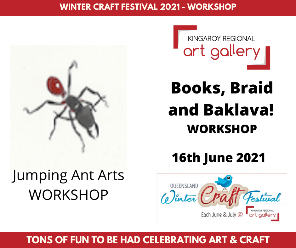 Books, Braid and Baklava! WORKSHOP 16th June 2021
