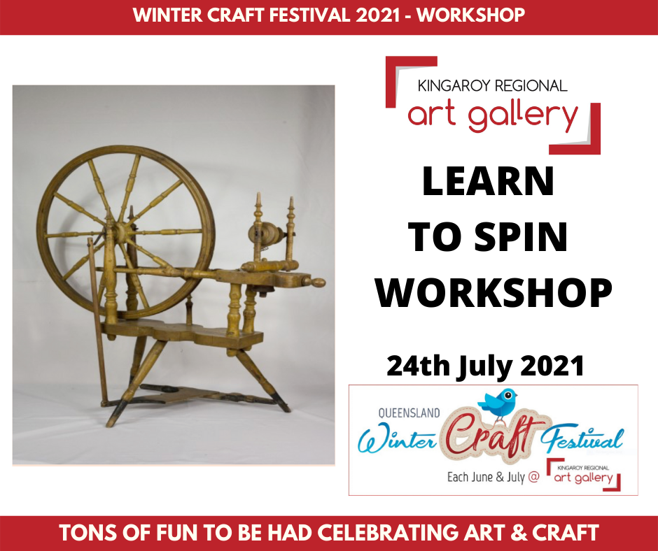 workshop, Learn to Spin 24th July 2021