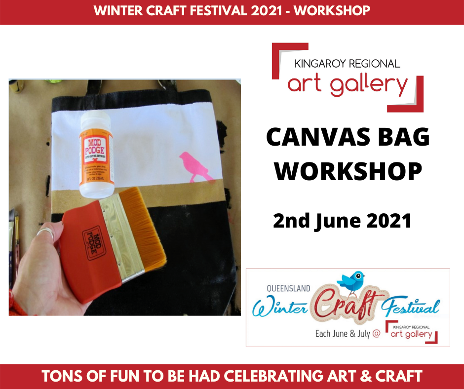 CANVAS BAG WORKSHOP 2nd June 2021