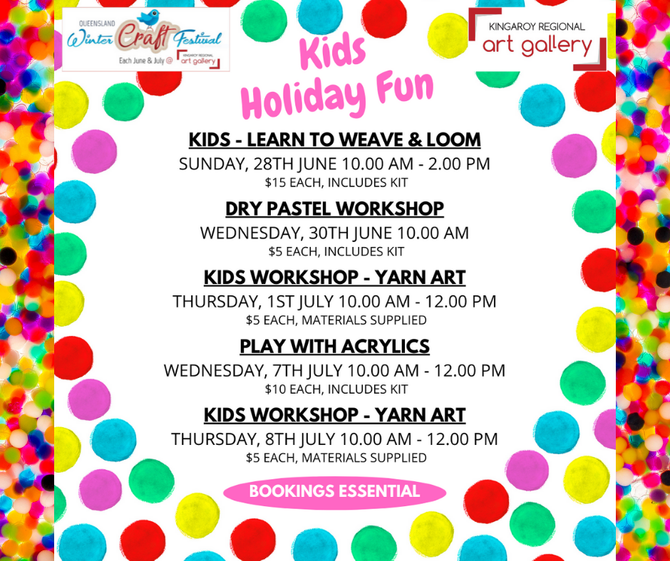 QLD Winter Craft Festival Kids workshops