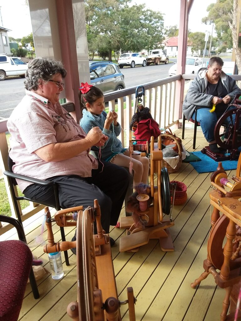 Booie Spinners and Weavers workshop during QLD Winter Craft Festival 2021
